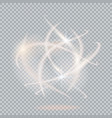 light effect on transparent vector image vector image