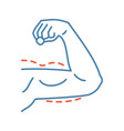 male arm lift surgery color icon vector image vector image
