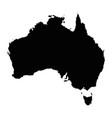 map australia isolated black vector image