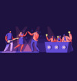 music band take part in talents show artists vector image vector image