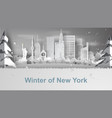 paper art of travel winter and snow season of vector image vector image