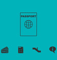 Passport line icon flat