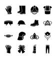 personal protective equipment icons vector image