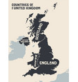 poster map contries united kingdom vector image vector image