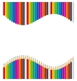 Rainbow set of colored pencils vector image vector image