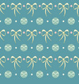 retro candy dots lace bows seamless pattern vector image