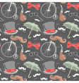 Retro seamless pattern with vintage objects vector image vector image