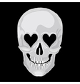scull heart vector image vector image
