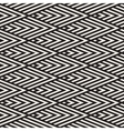 Seamless Black and White Rhombus Stripes vector image