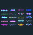 set isolated audio equalizer or voice frequency vector image