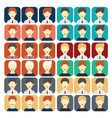 set of flat design icons businessman vector image vector image