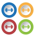 set of four icons - dumbbell vector image