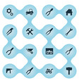 set of simple axe icons vector image