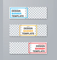 set of web banners with place for photo and color vector image vector image