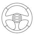 Steering wheel icon outline style vector image vector image