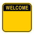 sticker welcome safety sign vector image