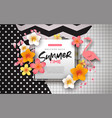 summer background template exotic flowers vector image vector image