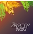 Summer Time Palm Leaf Background vector image vector image