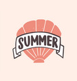 summer word written with modern funky font on vector image