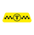 taxi icon in yellow vector image vector image