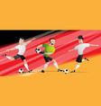 team germany football soccer players vector image vector image