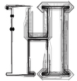 Technical typography Letter H vector image vector image