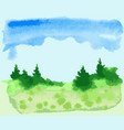 watercolor drawing of abstract landscape vector image