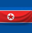 waving national flag north korea vector image