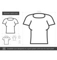 woman t-shirt line icon vector image vector image