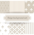 beige background set vector image