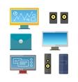 Set of Computer Peripherals vector image