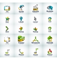 set of internet logo icons vector image
