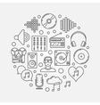 Creative music vector image