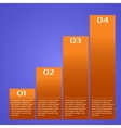Infographic chart vector image