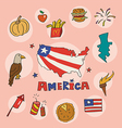 set of national profile of america vector image