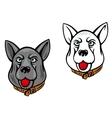 Dog mascots vector image