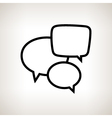 Silhouette speech bubble on a light background vector image