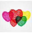 splash heart colorful vector image