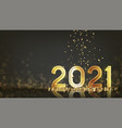 2021 happy new year holiday banner vector image