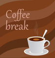 a bowl of coffee vector image vector image
