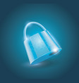 a locked lock on light blue background vector image vector image