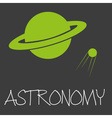 astronomy text and planet in space symbol eps10 vector image vector image