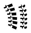 backbone - spine icon black vector image