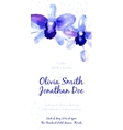 Background with blue watercolor orchids vector image vector image