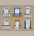 balcony modern facade exterior architectural vector image vector image