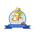 beer degustation octoberfest vector image vector image