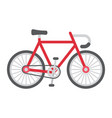 bicycle flat icon transport and vehicle bike vector image vector image