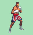 boxing fighter wearing usa flag boxing shorts vector image vector image
