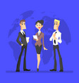 business people cheerful businessmen and vector image vector image