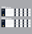 calendar 2020 template planner diary in a vector image vector image